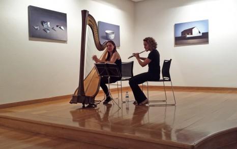 Cristina Sánchez Cuétara (arpa) y Garazi Aguirretxe (flauta).