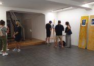 Pablo Astrain pinta en directo en la galería 11