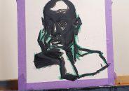 Pablo Astrain pinta en directo en la galería 2