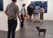 Pablo Astrain pinta en directo en la galería 12
