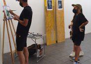 Pablo Astrain pinta en directo en la galería 4
