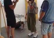Pablo Astrain pinta en directo en la galería 6