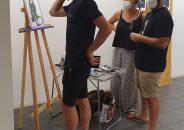 Pablo Astrain pinta en directo en la galería 9